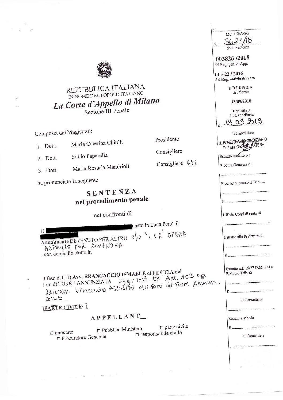 Favoreggiamento Reale: sconto di pena in appello per assistito dello Studio Legale