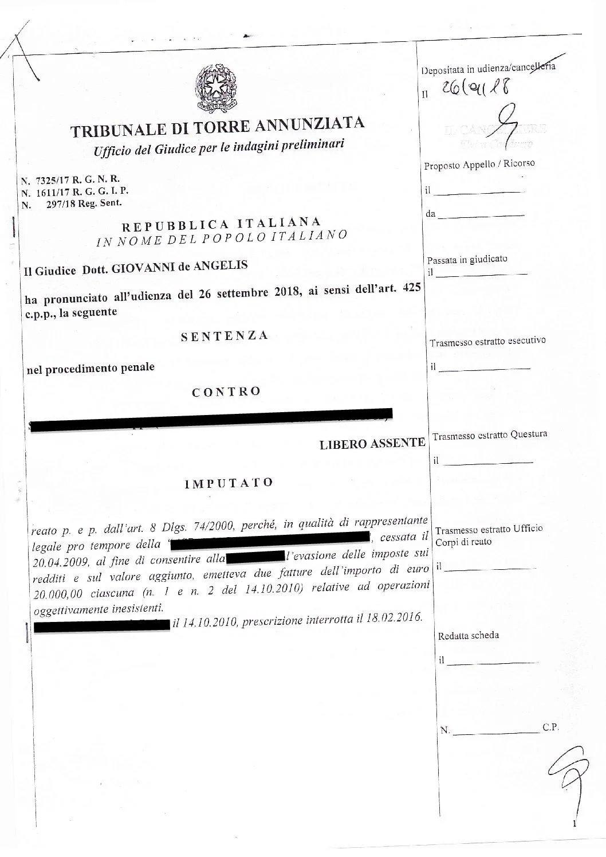 Emissione di fatture per operazioni inesistenti: Assoluzione per assistito dello studio legale